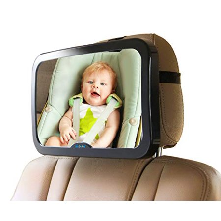 Baby Mirror for Car - Large, Wide, Clear View, Convex Back Seat Mirror is Shatterproof and