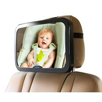 Baby Mirror for Car - Large, Wide, Clear View, Convex Back Seat Mirror is Shatterproof and Adjustable