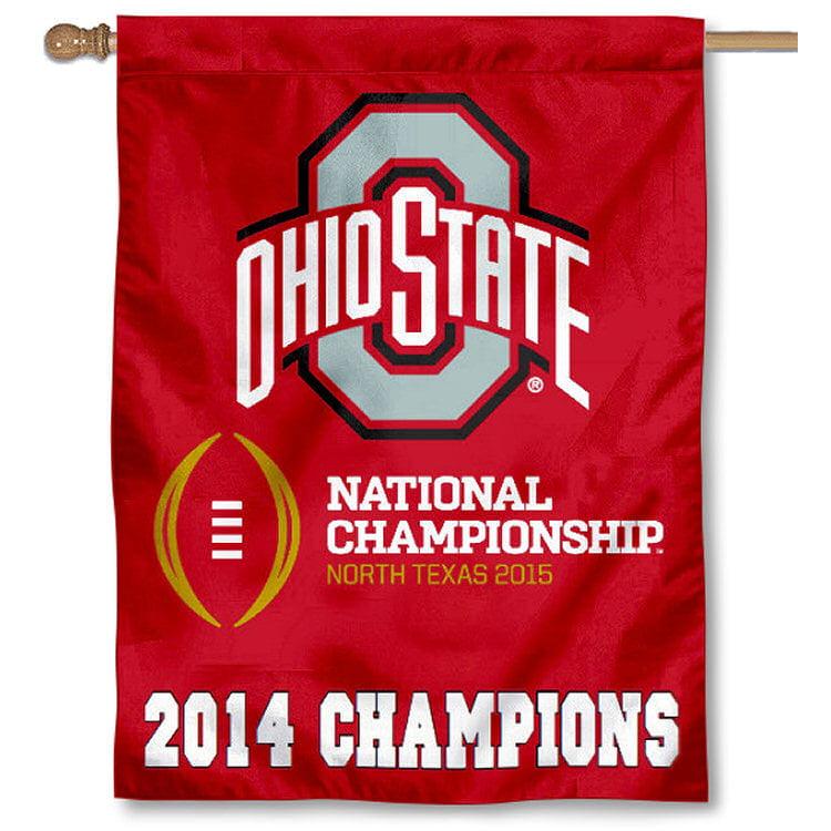 Ohio State University Buckeyes Logo Flag