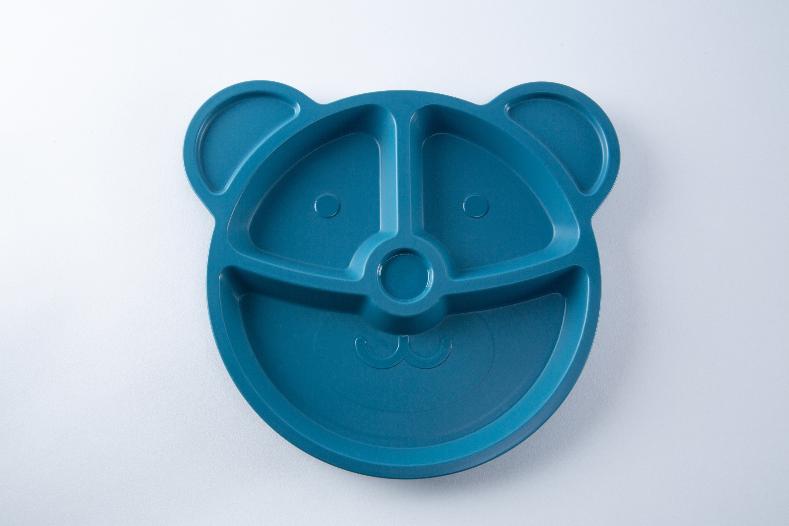 Your Zone Plastic 10 In Bear Shape Divided Tray - Blue Color