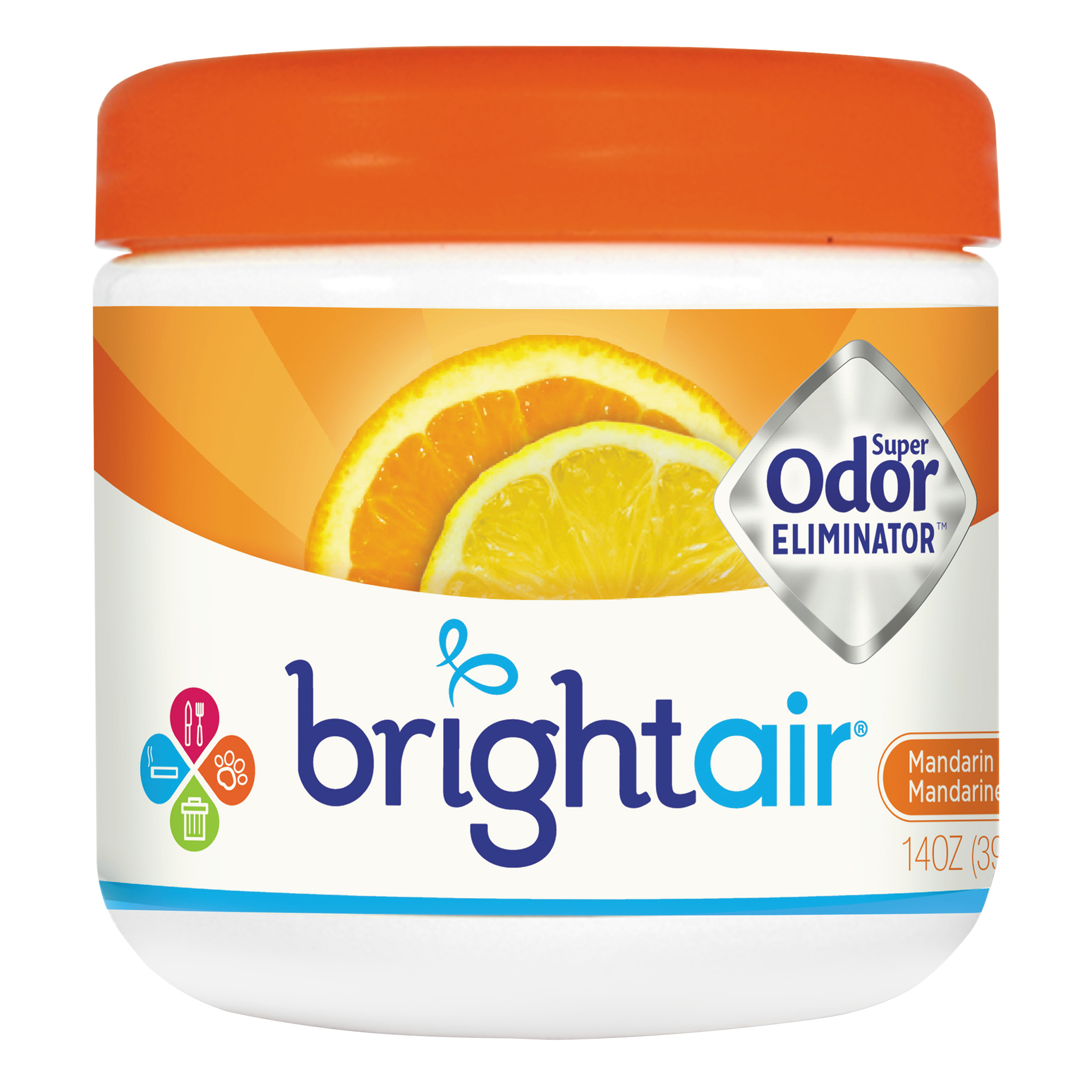 BRIGHT Air Super Odor Eliminator, Mandarin Orange and Fresh Lemon, 14oz