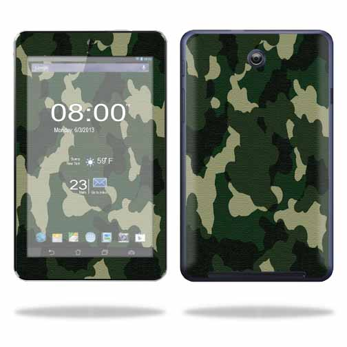 Mightyskins Protective Skin Decal Cover for Asus MeMO Pad HD 7 Tablet wrap sticker skins Green Camo