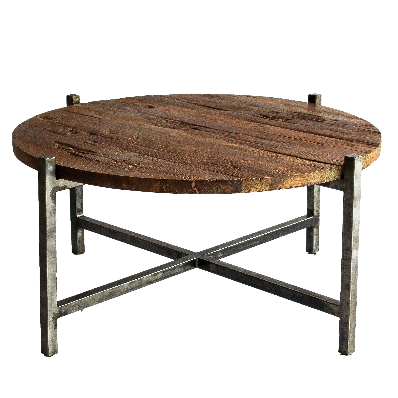 Lotta Coffee Table Gunmetal Frame, Natural