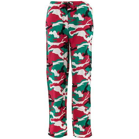 Allison Rhea Men's Red Green Camo Cotton Pajama Pants thumbnail