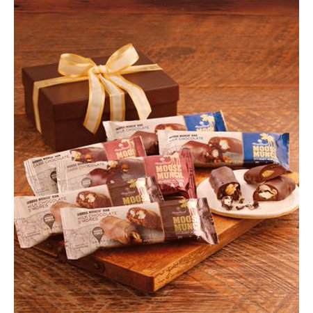 Moose Munch Popcorn Chocolate Bar Gift Box by Harry & David (6 Bars) - Harry And David Halloween Cookies