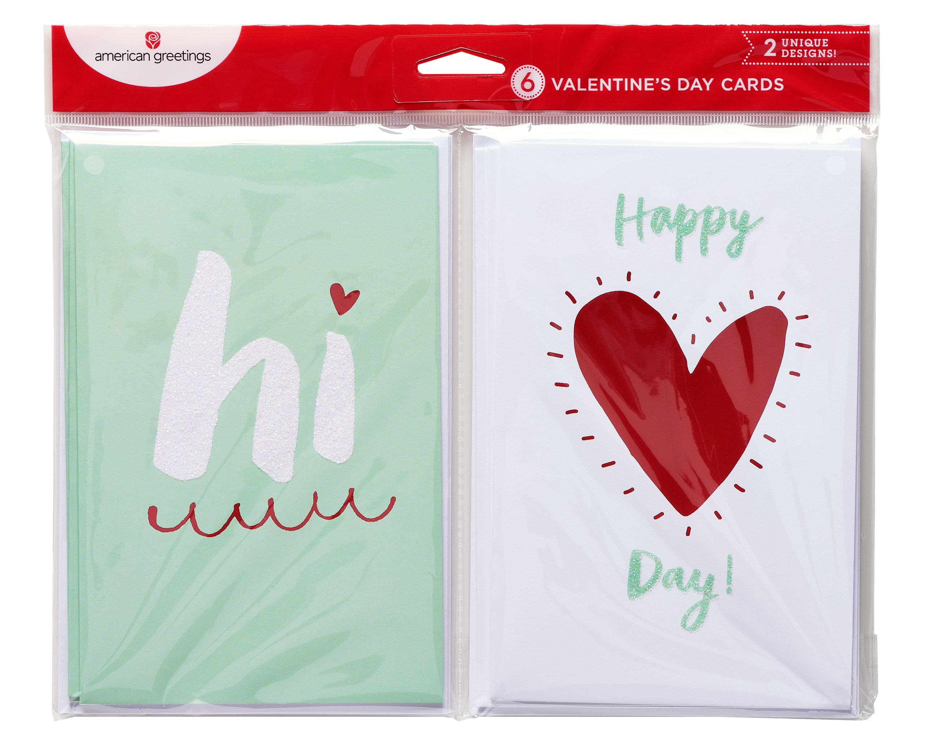 American Greetings Hi Valentines Day Card 6ct Walmart