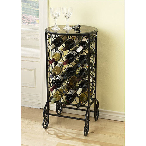 Wildon Home  Colombia Glass 15 Bottle Wine Rack & Table