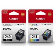 Genuine Canon PG-240 Black Ink Cartridge + Canon CL-241 Color Ink Cartridge