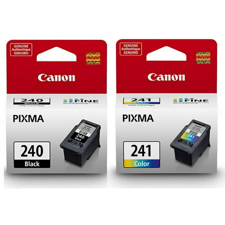 Genuine Canon PG-240 Black Ink Cartridge + Canon CL-241 Color Ink Cartridge ()