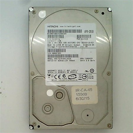 - Refurbished Hitachi 1TB SATA II 7200 RPM 32MB Cache Desktop Hard Drive