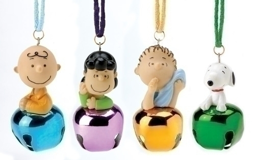 Peanuts Charlie Brown Lucy Linus Snoopy Jingle Bells Christmas Ornament Set Of 4
