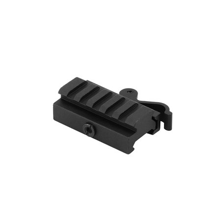 Monstrum Tactical Low Profile Picatinny Riser Mount with Quick Release, for Red Dots, Scopes, and Optics (0.59 inch H x 2.5 inch L) Amp Red Dot Scope