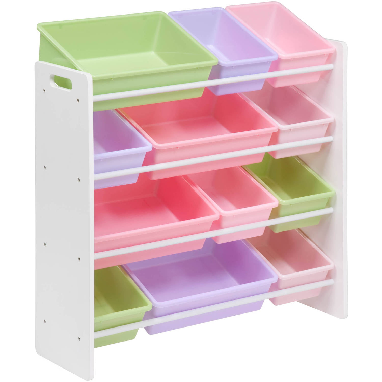 Honey Can Do Kidu0027s Toy Organizer with 12 Storage Bins Multicolor - Walmart.com  sc 1 st  Walmart : shelves for plastic storage bins  - Aquiesqueretaro.Com