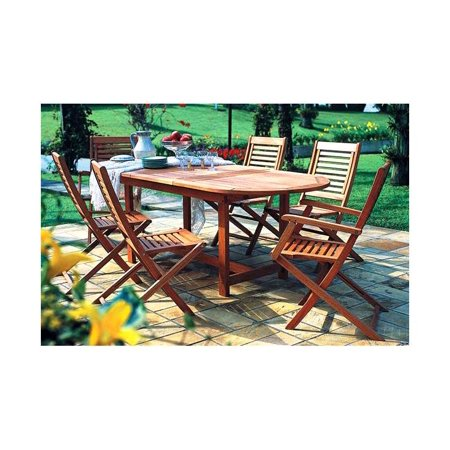 Milano 7 Pc Extendable Oval Table Set