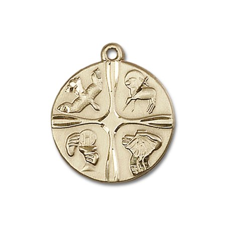 - 14kt Yellow Gold Christian Life Medal 3/4 x 3/4 inches