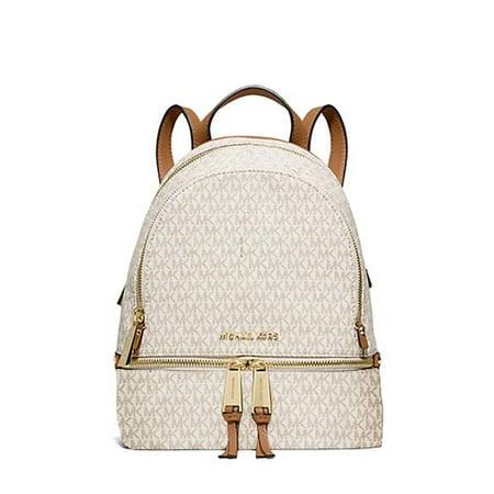 3043aa82d77d Michael Kors - MICHAEL Rhea Signature Extra Small Backpack (Vanilla Acorn)  - Walmart.com