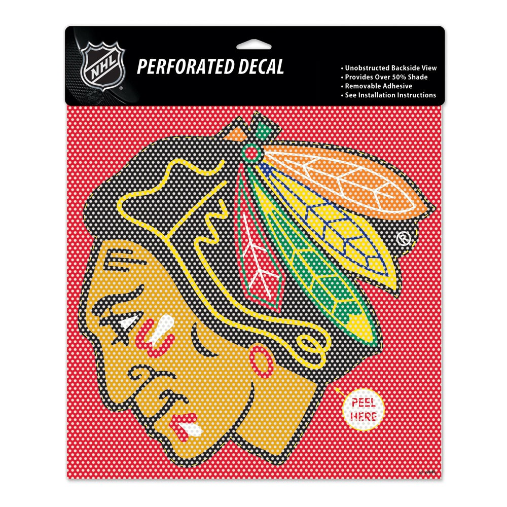 Chicago Blackhawks Official NHL 12 inch x 12 inch  Window Shade by Wincraft