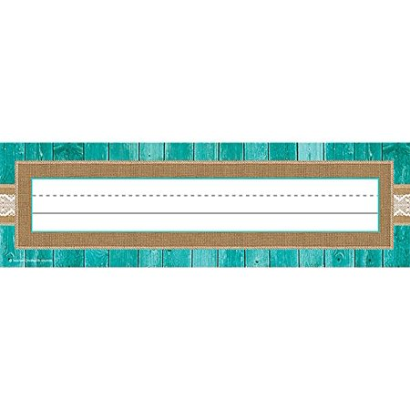 Shabby Chic Name Plates (77194), 36 per pack By Teacher Created Resources (Shabby Chic Paper Plates)