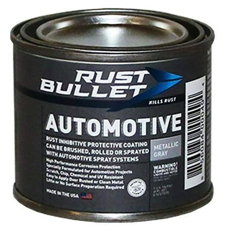 Rust Bullet Automotive - Rust Inhibitor Protective Coating, Rust Paint (4 oz can, Metallic Grey)