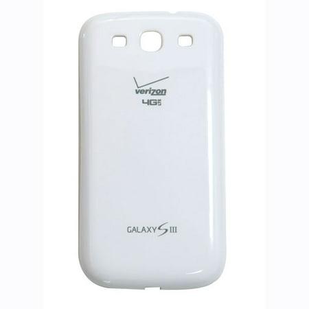 OEM Samsung Galaxy S3 Battery Door - Verizon Logo  - (Verizon Oem Battery)