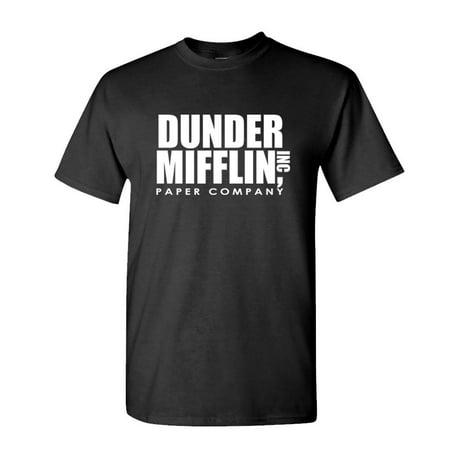 DUNDER MIFFLIN PAPER INC office tv show - Mens Cotton