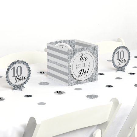 We Still Do - 10th Wedding Anniversary - Party Centerpiece & Table Decoration Kit](Table Decorations For 25th Wedding Anniversary)