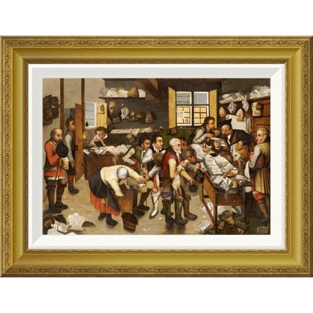 Global Gallery The Payment Of Tithes By Pieter Bruegel The Elder Framed Painting Print