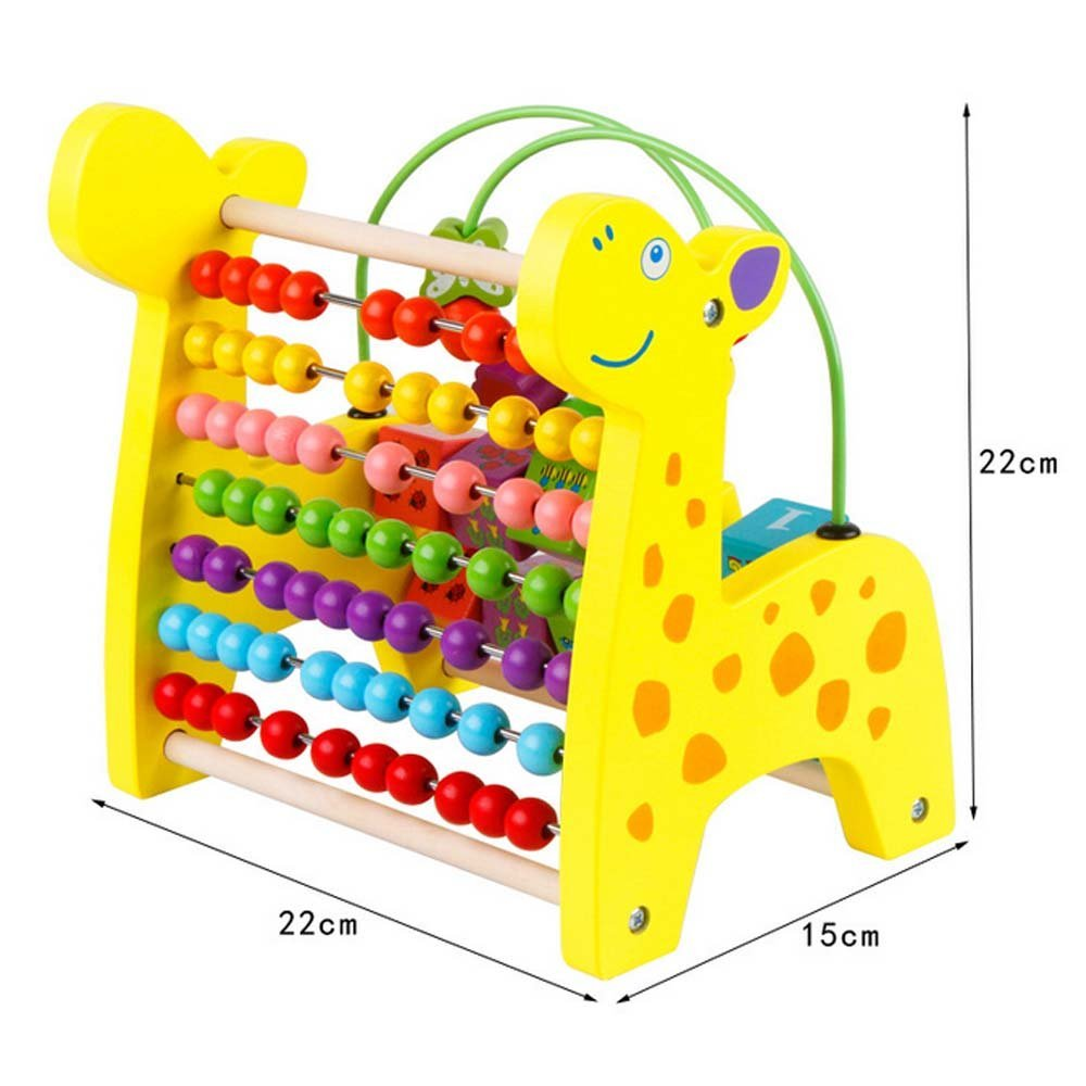 HLJgift Giraffe Circle Bead Number Math Shape Color Recog...