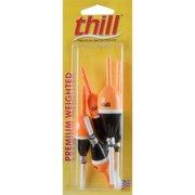 Thill Premium Weighted Slip 5 Piece Assortment Fishing Lure Float Orange Black