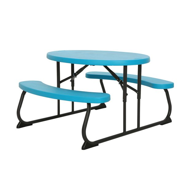 Lifetime Childrens Oval Picnic Table Blue 60229