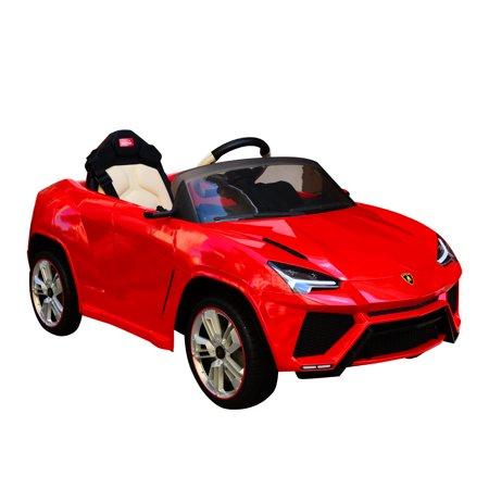 Aosom 12V Lamborghini Urus Kids Electric Ride On Car With Remote Control   Red