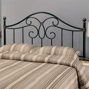 Bowery Hill Full Queen Metal Spindle Headboard in Black and Bronze