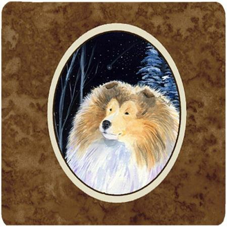 Carolines Treasures SS8360FC Starry Night Collie Foam Coasters, Set Of 4 - image 1 de 1