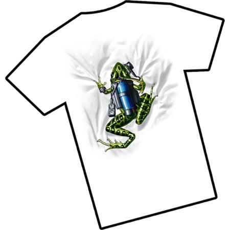 Xl American Eagle Outfitters - Amphibious Outfitters T-Shirt - Scuba Frog - White - Diving