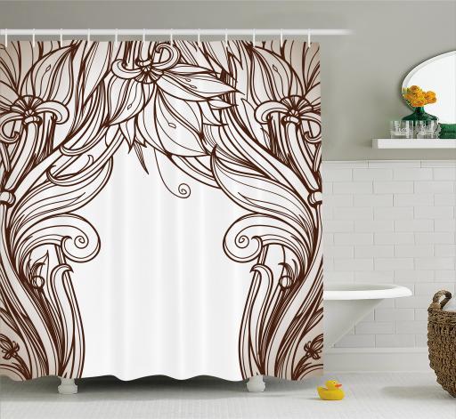 Bathroom Art Nouveau: Art Nouveau Shower Curtain, Vintage Victorian Renaissance