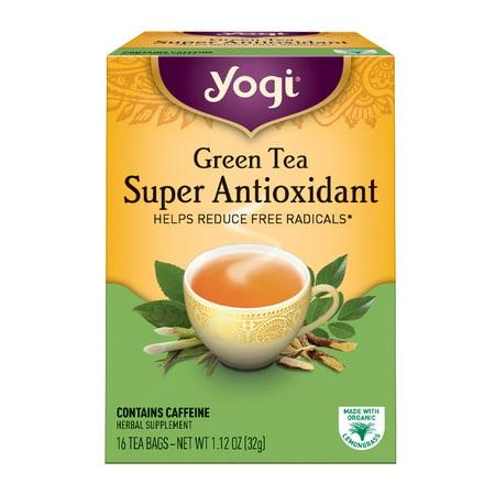 (6 Boxes) Yogi Tea, Green Tea Super Antioxidant Tea, Tea Bags, 16 Ct, 1.12 - Tea Super Slimming Tea