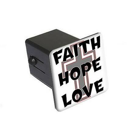 Faith Hope Love - Cross Christian Tow Hitch Cover