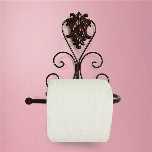AUCH Vintage Metal Wall Mount Bathroom Toilet Tissue Holder Kitchen Roll Paper Dispenser Bronze