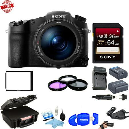 Sony DSC-RX10 III Cyber-shot Digital Camera w/ 64GB SD Card