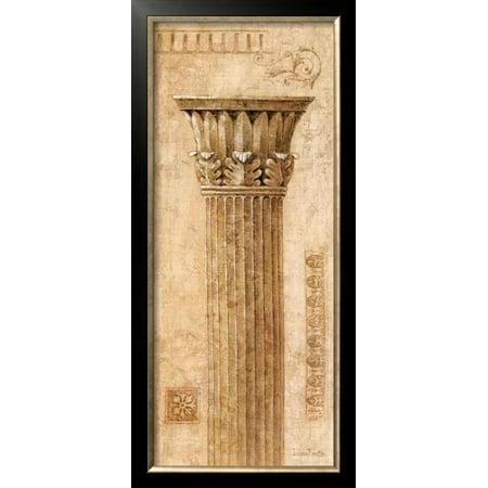 Sepia Column (Sepia Column Study I Framed Art Print Wall Art  By Javier Fuentes - 15.5x33)