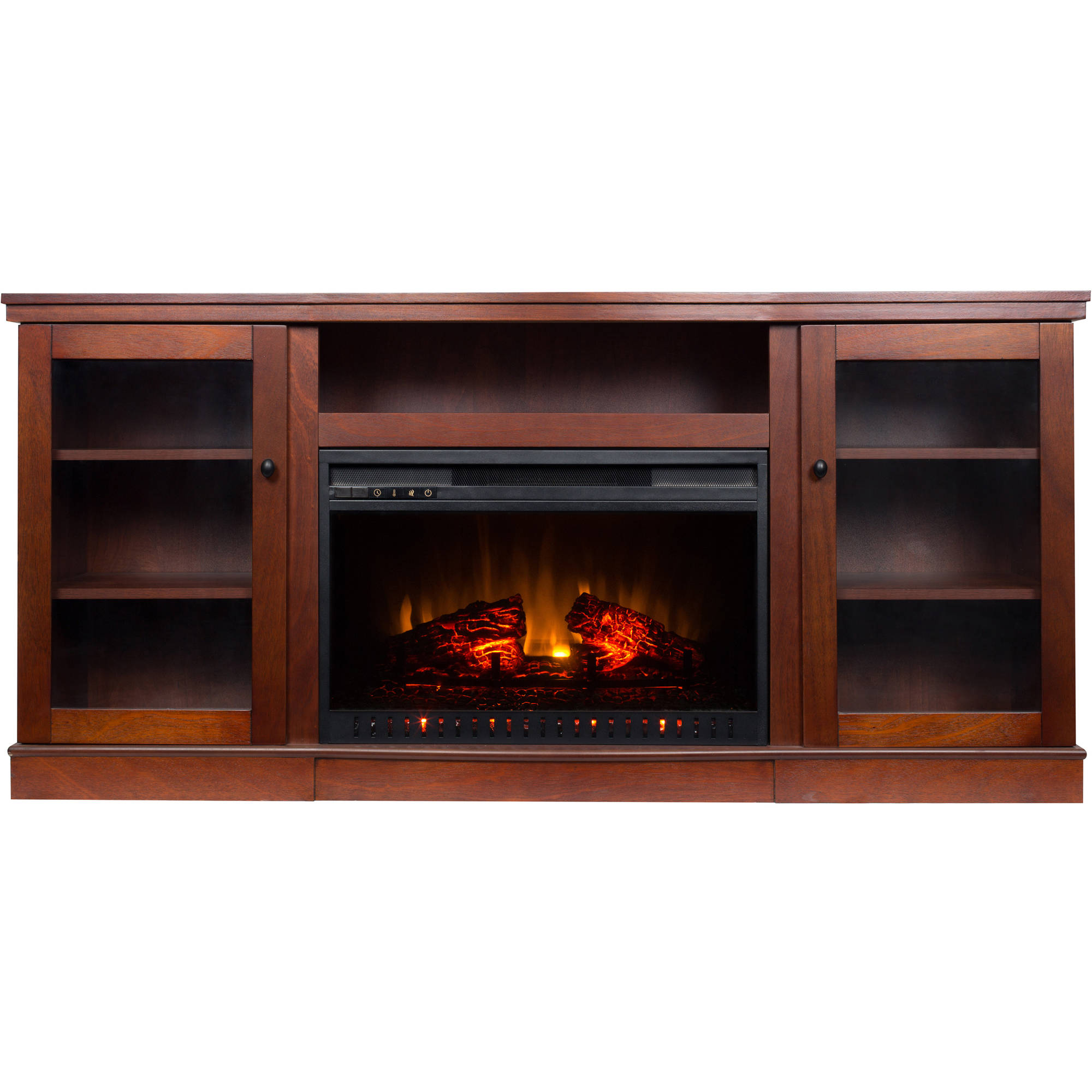 electric fireplace with 63 mantle ebay. Black Bedroom Furniture Sets. Home Design Ideas