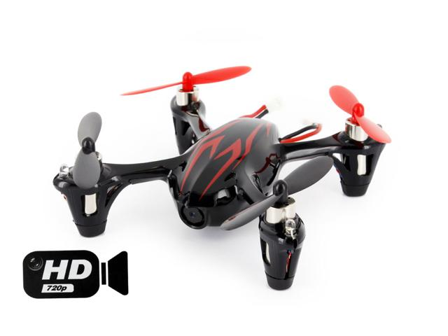 Hubsan X4 (H107C HD) 4 Channel 2.4GHz RC Quad Copter with 720p HD Camera Black Red by Hubsan