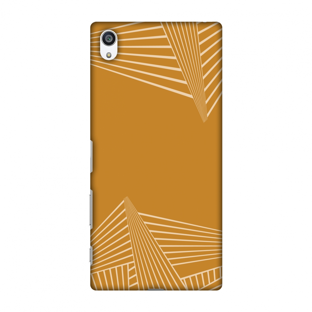 Sony Xperia Z5 Premium Case, Premium Handcrafted Printed Designer Hard Snap On Case Back Cover for Sony Xperia Z5 Premium - Carbon Fibre Redux Desert Sand 3