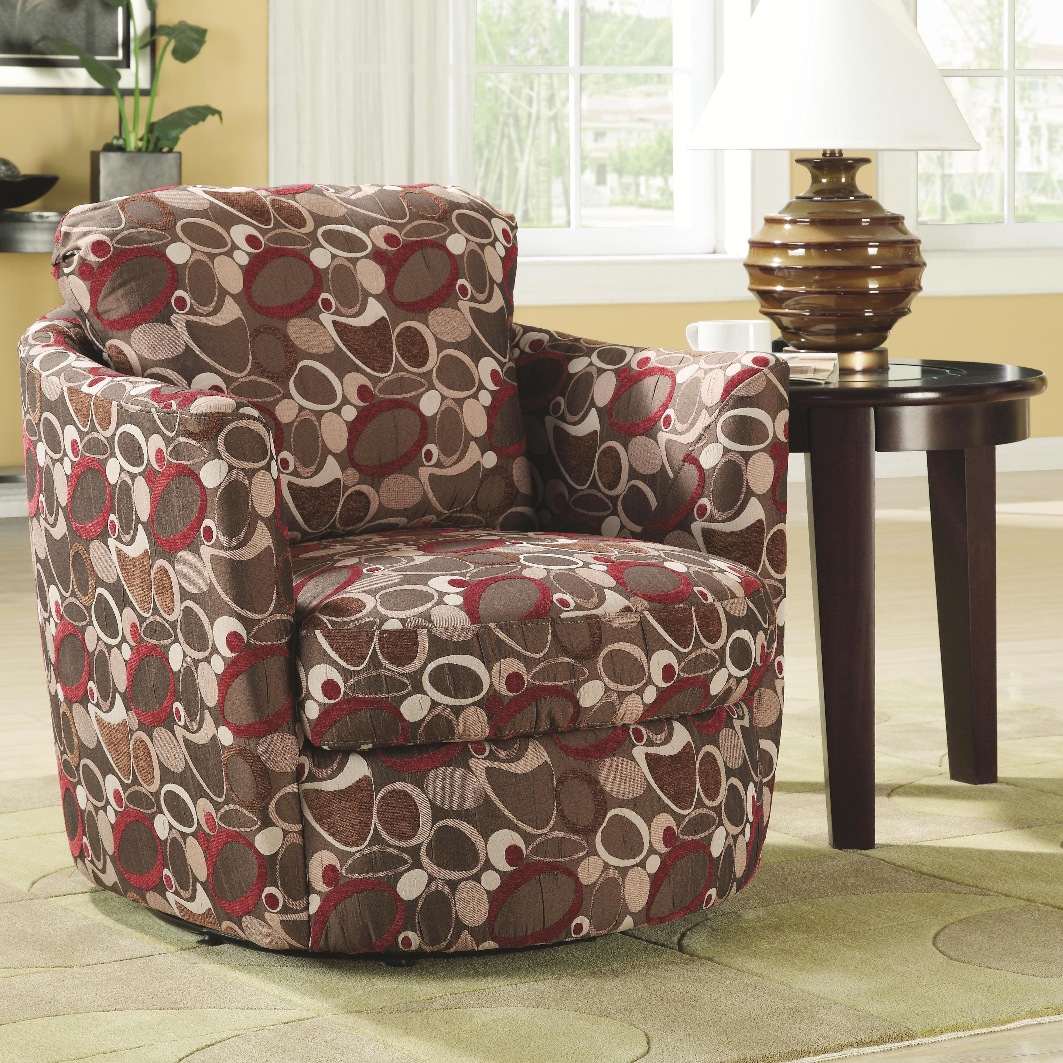 coaster diamond pattern swivel chair walmart com