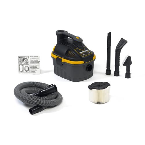 WORKSHOP Wet Dry Vac WS0401VA Wet/ Dry 5.0 Peak HP, 4 gal. Portable Auto Vacuum Cleaner with Accessories