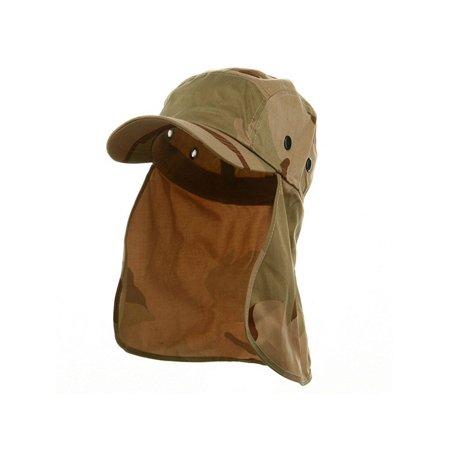 Camouflage Twill Cap with Flap--- New Desert (Converse Desert Camo)