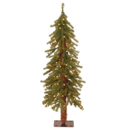 National Tree Pre-Lit 4' Hickory Cedar Artificial Christmas Tree with 100 Clear (Best Way To Clear Cedar Trees)
