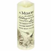Candle-Flameless-Premier Flicker-A Memory w/Timer-Vanilla (8  x 3 )