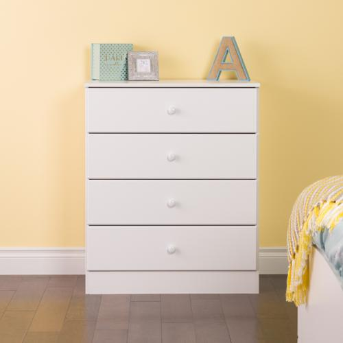 Prepac Bella 4-Drawer Dresser, White by Overstock