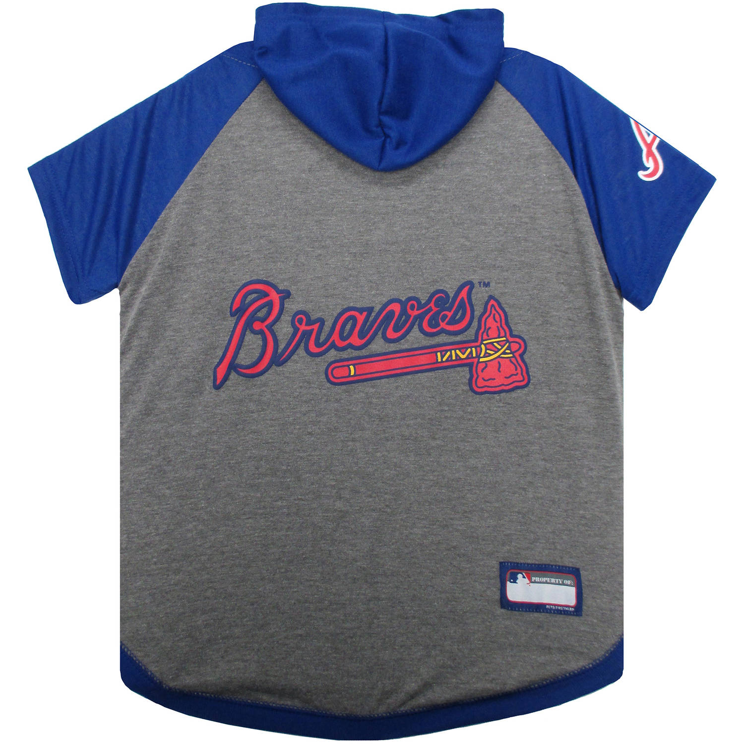 Pets First MLB Atlanta Braves Hoody Tee Shirt